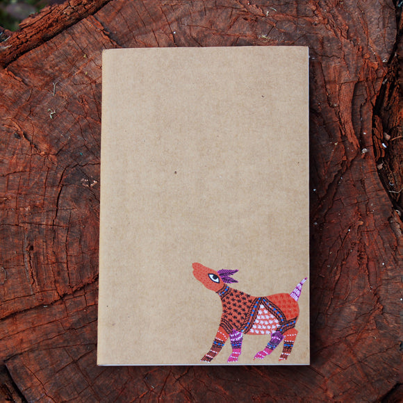 Gond Art Unruled Notebook - Deer Motif