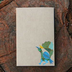 Gond Art Unruled Notebook - Peacock
