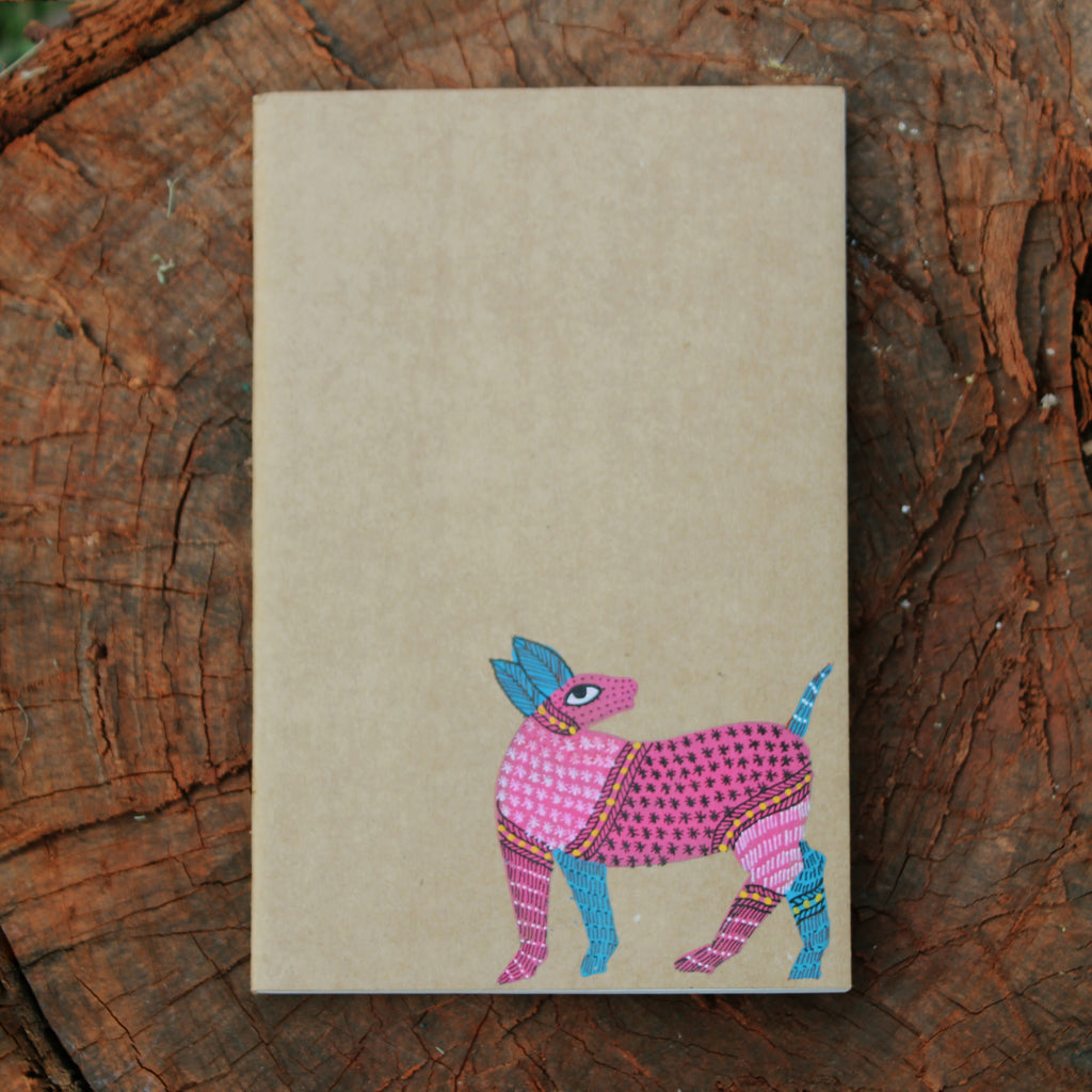 Gond Art Unruled Notebook - Deer