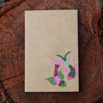 Gond Art Unruled Notebook - Two Fishes Motif