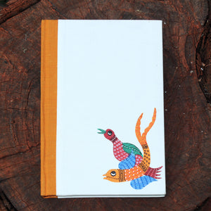 Gond Art Large Notebook - Bird