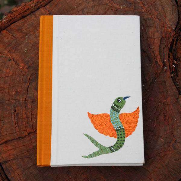 Gond Art Large Notebook - Flying Fish