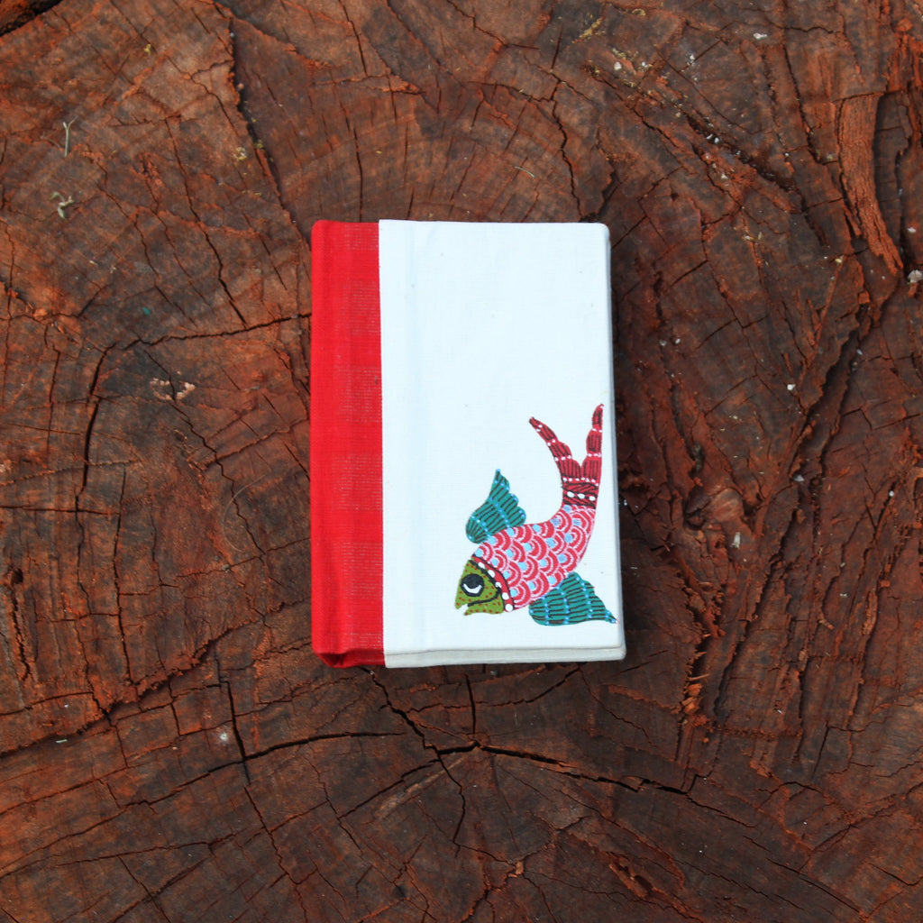 Gond Art Pocket Notebook - Fish Motif