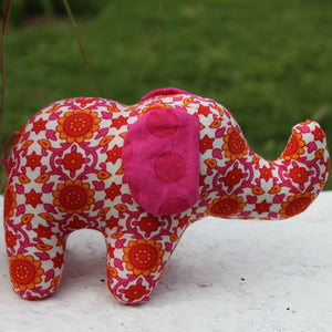 Pumpum Haathi - Pink and White
