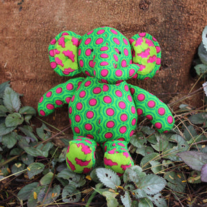 Handmade plush toy - Green baby elephant