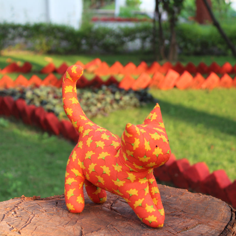 Handmade plush toy - Orange Cat