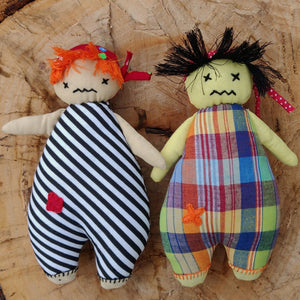 Handmade plush toys - Set Of Two Pirate Dolls