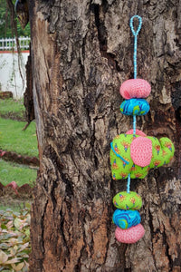 Baby Elephant Mobile - Green and Pink