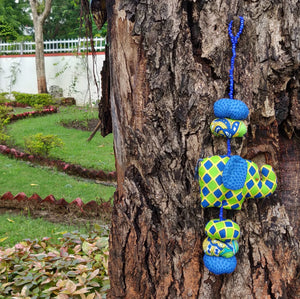 Baby Elephant Mobile - Green and Blue