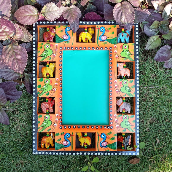 Photo Frame/Mirror - Orange