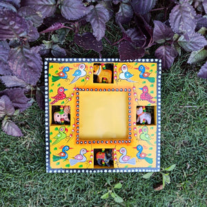 Square Photo Frame/Mirror - Yellow