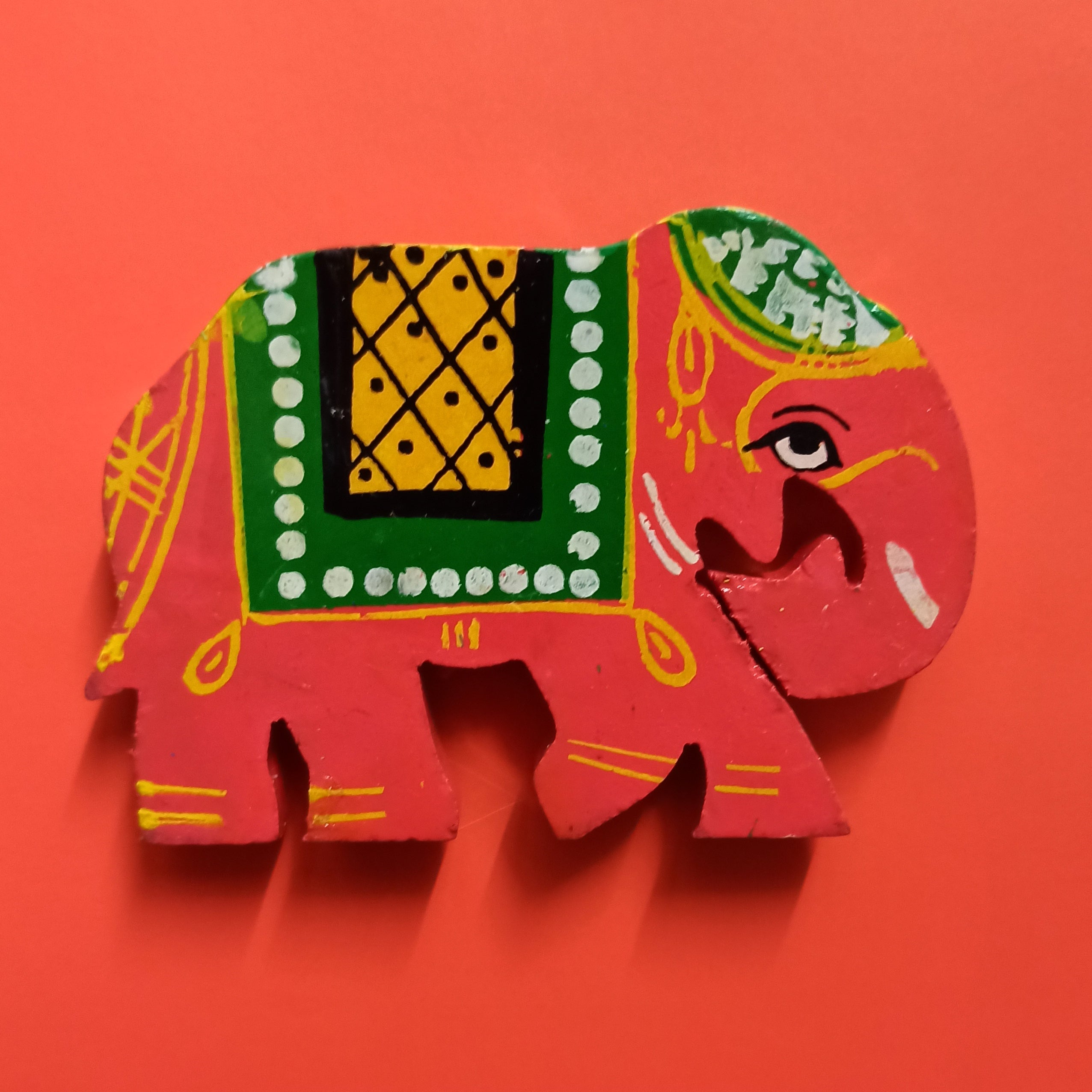 Elephant Fridge Magnet - Red