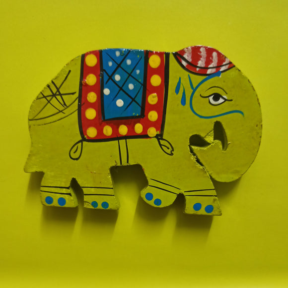 Elephant Fridge Magnet - Green