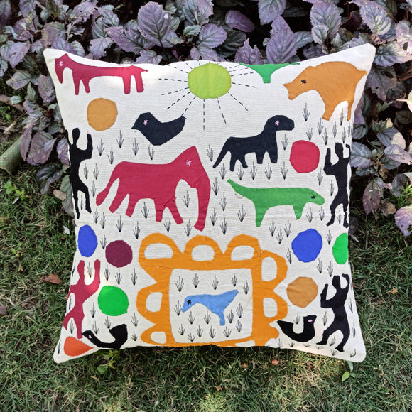 Applique Work Cushion Cover from Pipli, Orissa