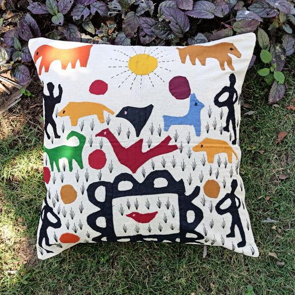 In the jungle - Applique Cushion Cover