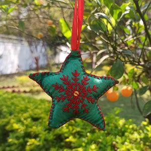 Phulkari Star Ornament - small