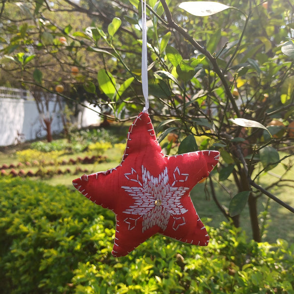 Phulkari Star Ornament - big