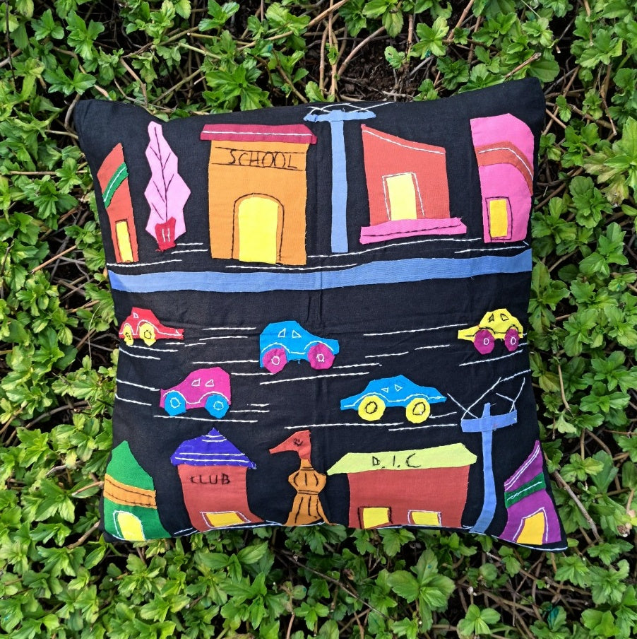 City Lights - Applique Cushion Cover