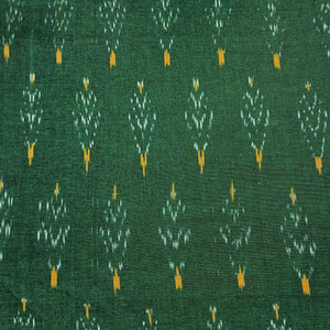 Into the Forest Ikat Fabric - Dark Green