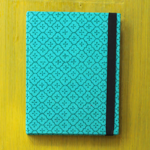 Block Printed A5 Diary - Teal