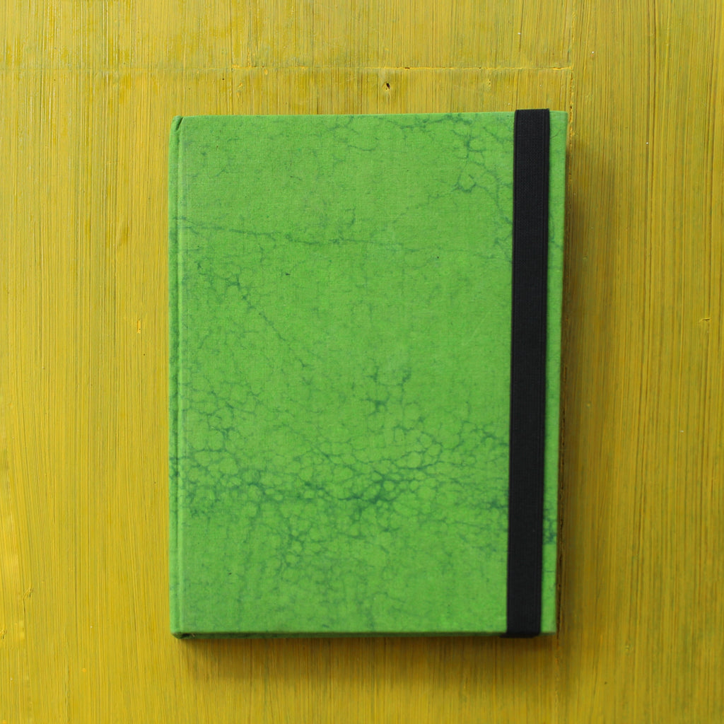 Block Printed A5 Diary - Light Green