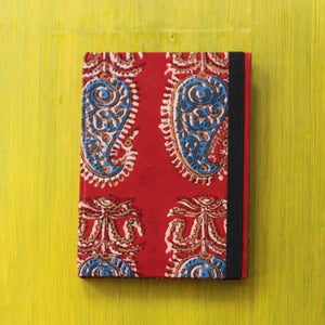 Block Printed A5 Diary - Red
