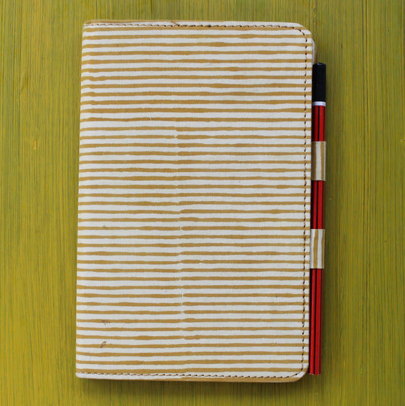 Notebook with Pencil Loop - Yellow