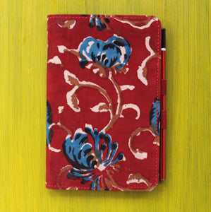 Notebook with Pencil Loop - Red
