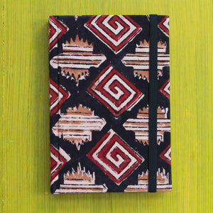 Block Printed A6 Diary - Black