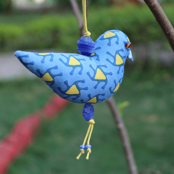 Bird Ornament - Blue