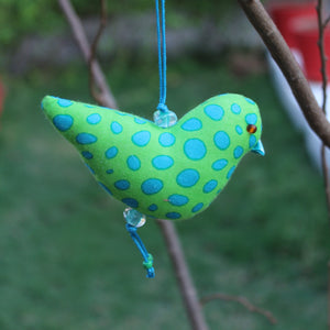 Bird Ornament - Green