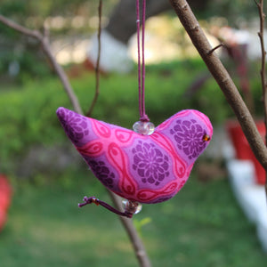 Bird Ornament - Purple