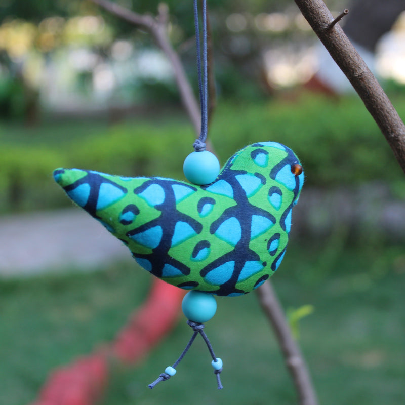Joy Bird Ornament - Blue and Green