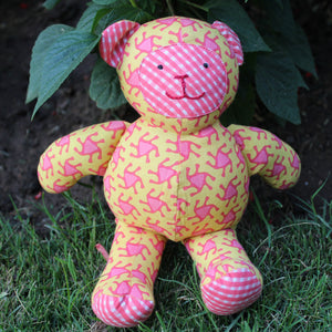 Teddy Bear - Yellow and Pink