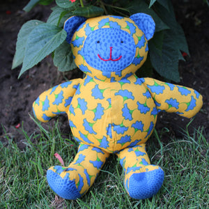 Teddy Bear - Yellow and Blue