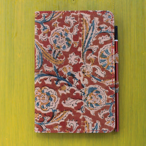 Notebook with Pencil Loop - Kalamkari