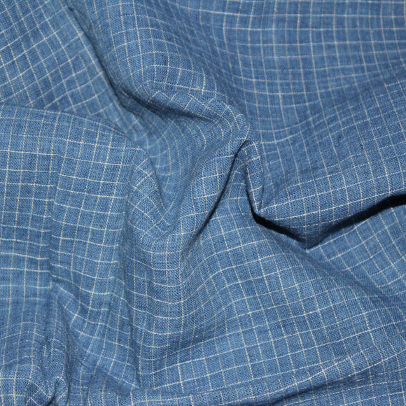 Perfect Squares Kala Cotton Fabric - Blue