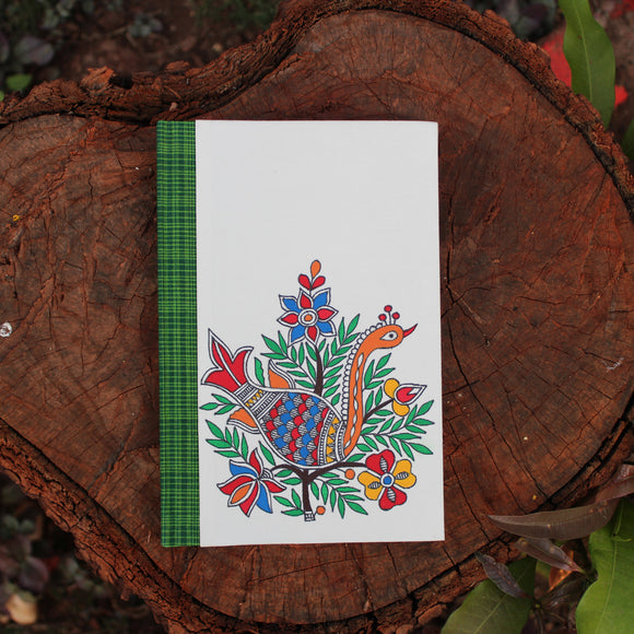 Madhubani Large Notebook - Peacock