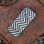 Handblock Printed Multipurpose Pouch - Black and White