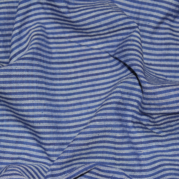 Scribbled Lines Handloom Cotton Fabric - Purple Stripes