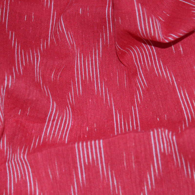 Streaks in the Sky Ikat Fabric - Red and White