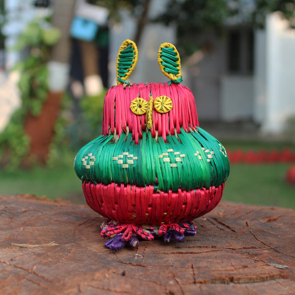 Sikki Grass Toy - Red Owl