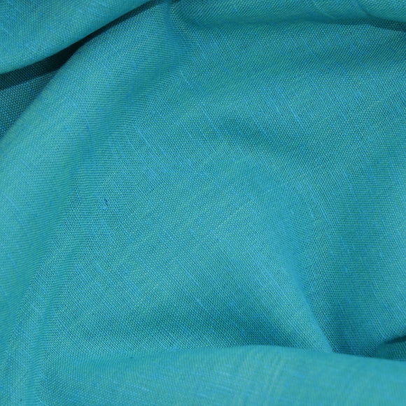 Under the Sea Handloom Cotton Fabric - Solid Sea Green