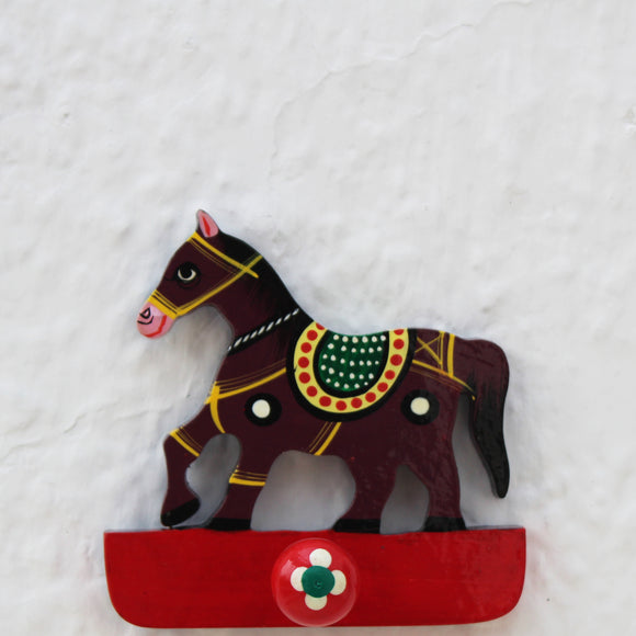 Handpainted Wooden Hook - Horse