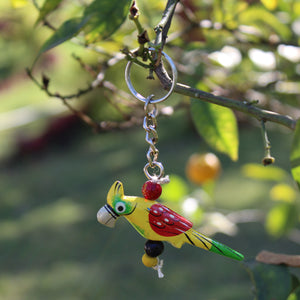 Wooden Keychain - Yellow