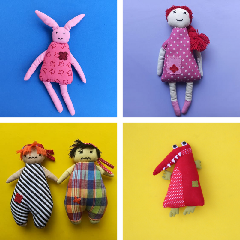 Handcrafted playmates - Set of Five