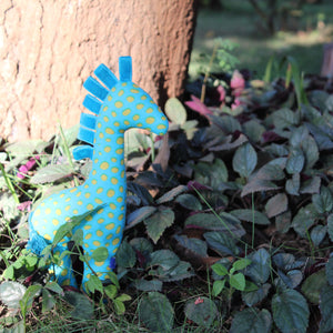 Sky Blue Fabric Giraffe Toy