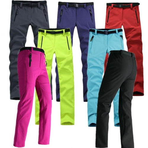 Women Thick Warm Fleece Softshell Pant