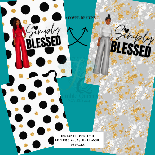 Simply Blessed Bible Study Bundle | Printable Prayer Journal