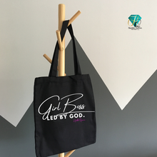 Load image into Gallery viewer, Girl Boss led by God Tote